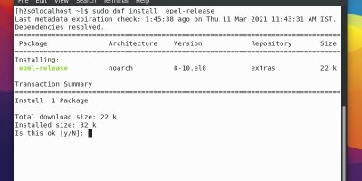 Enable EPEL repo on AlmaLinux 8
