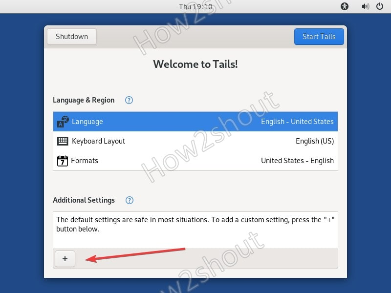 Enable Tails Linux Root password