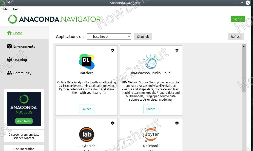 Install Anaconda Navigator GUI on openSUSE min