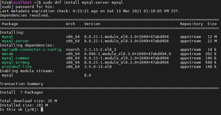 Installing MySQL on AlmaLinux