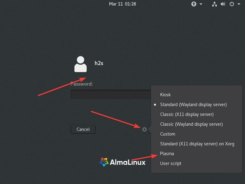 Switch from GNOME to KDE Plasma AlmaLinux min