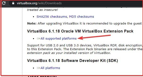 VirtualBox Extension pack install via command line