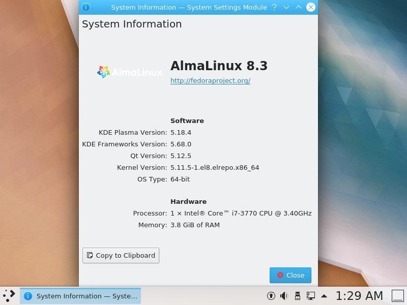 command to install KDE plasma desktop GUI AlmaLinux