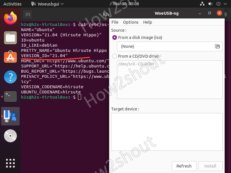 install woeUSB on Ubuntu 21.04 Hirsute Hippo