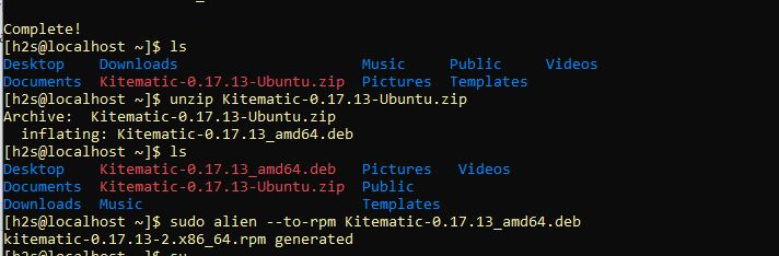 Convert Debian file in CentOS 8 using Alien