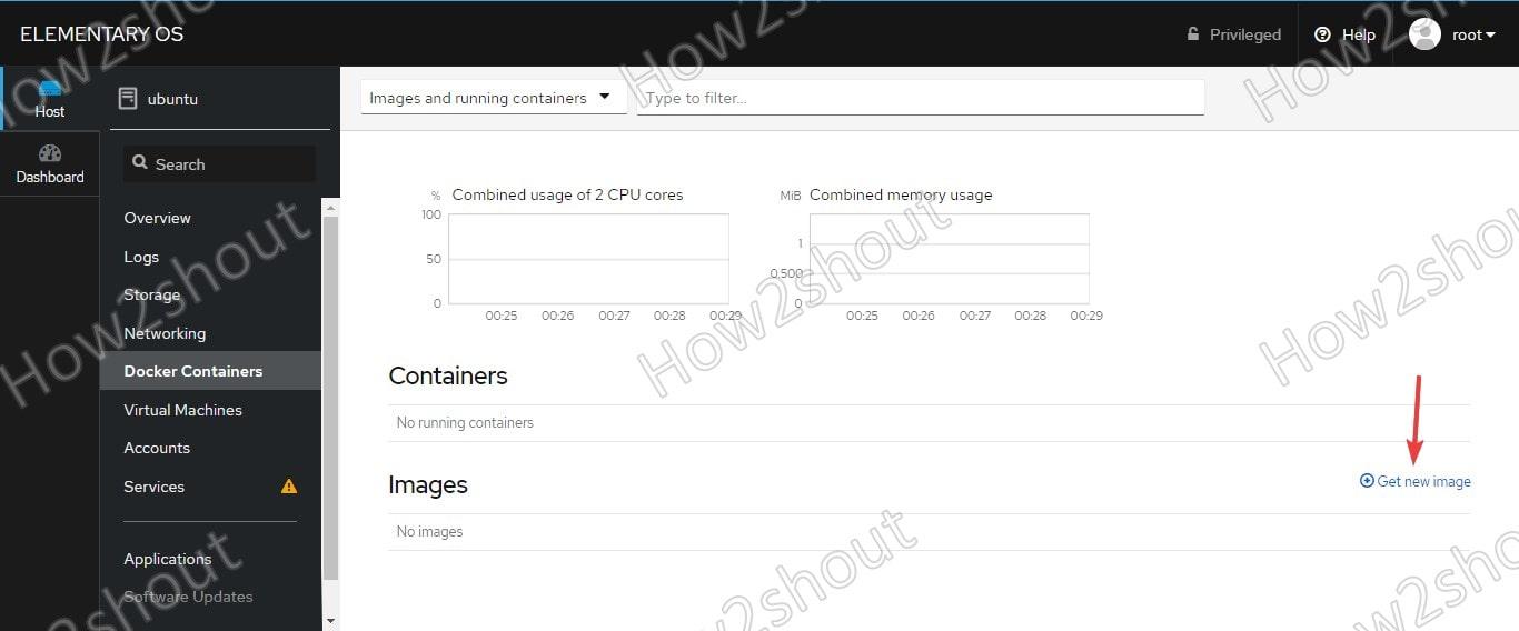 Download Docker Image to run on Cockpit server manager