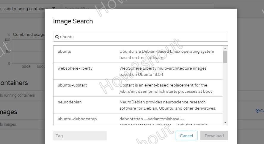 GUI search Docker Image Cockpit