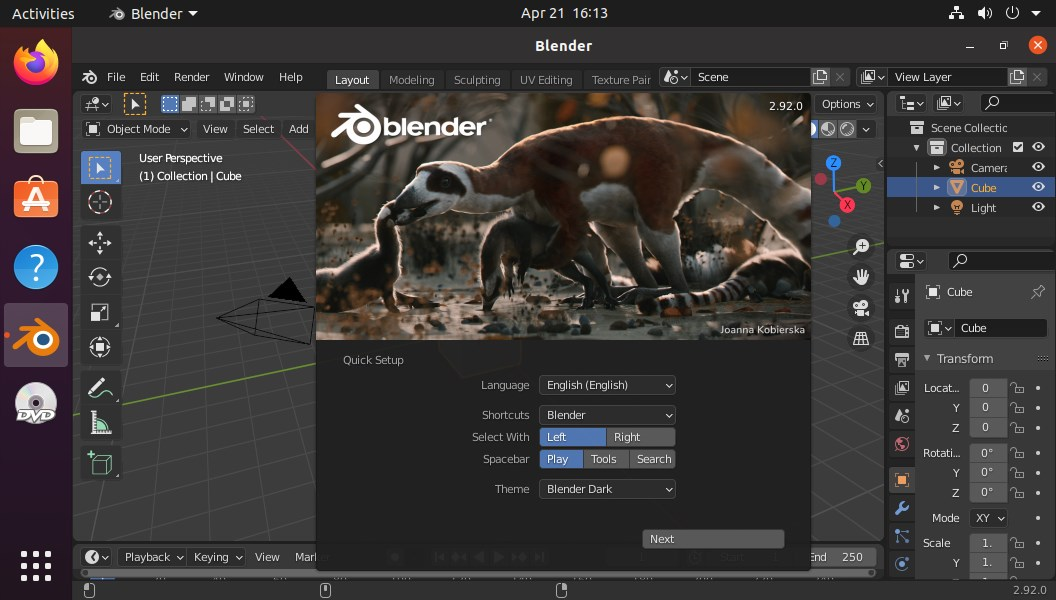 How to install Blender 3D on Ubuntu 20.04 LTS Linux