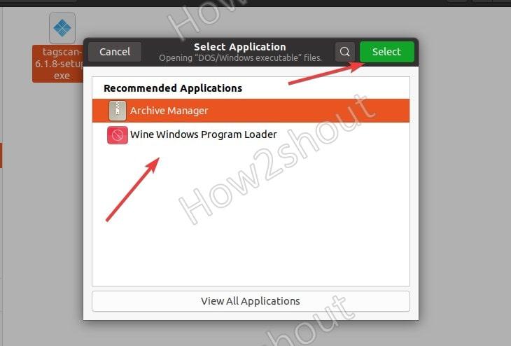 Install Tagscanner using Wine on Ubuntu
