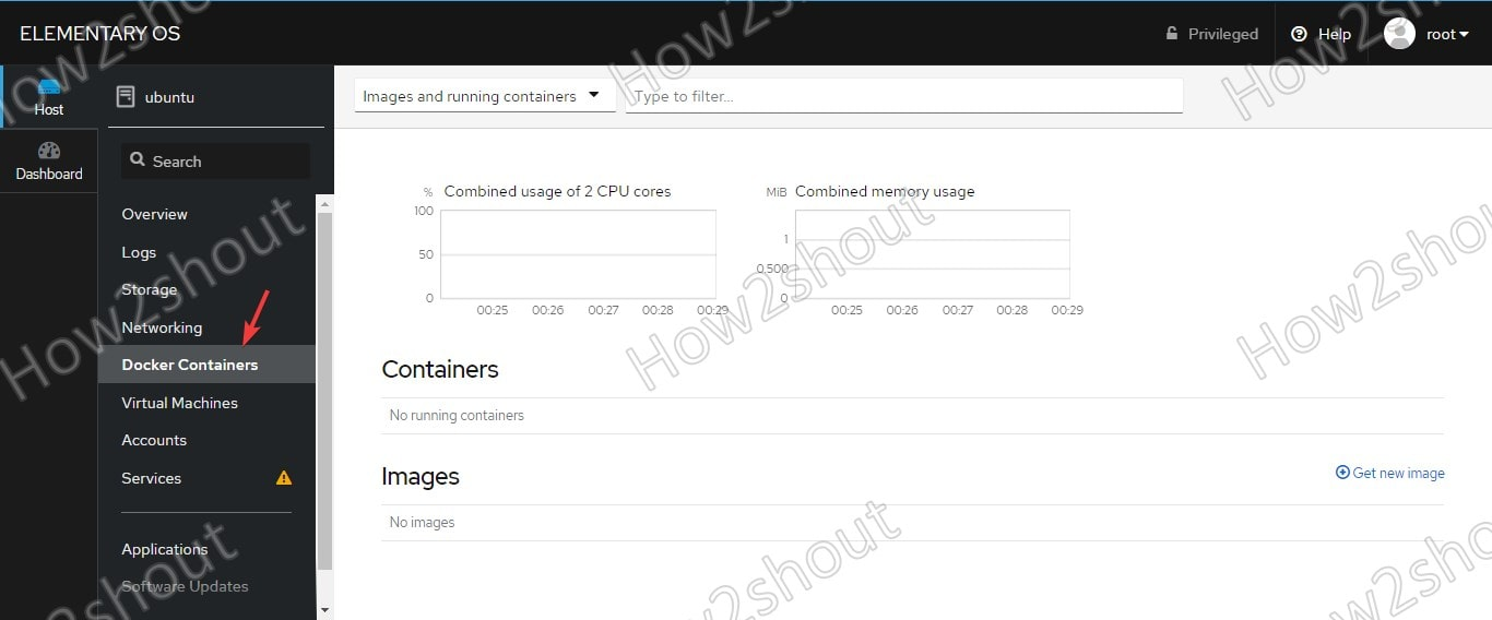 Open Docker Conatiner settings