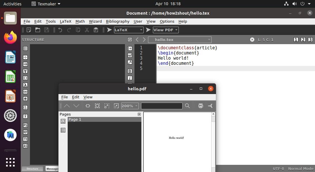Tex Live LaTex installed on Ubuntu 20.04 LTS Linux