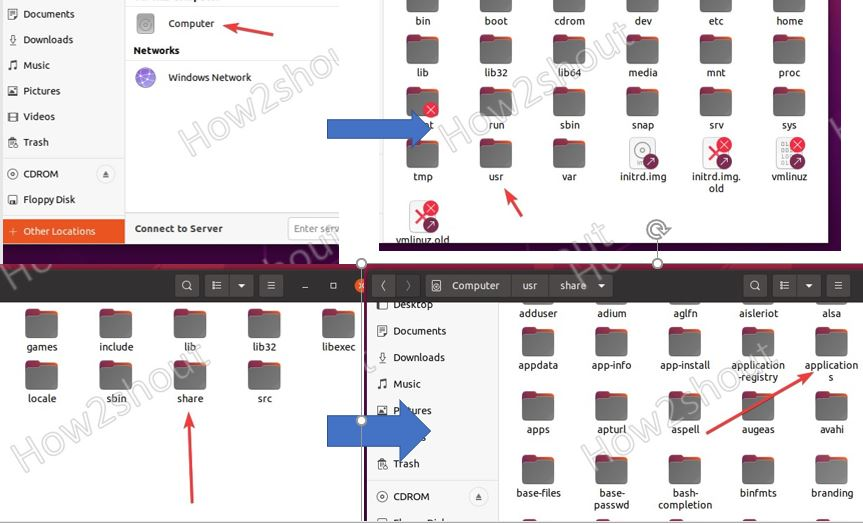 Ubuntu Application folder for desktop shortcut min