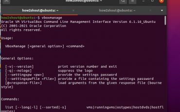 VirtualBox VBoxManage command line tool usage on Linux windows and macOS