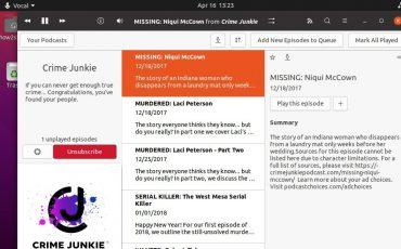 Vocal Podcast installation on Ubuntu 20.04