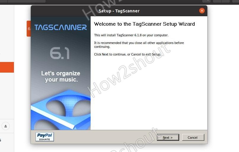 Start Tagscanner installation on Linux