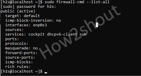 List all openeed ports services in AlamaLinux