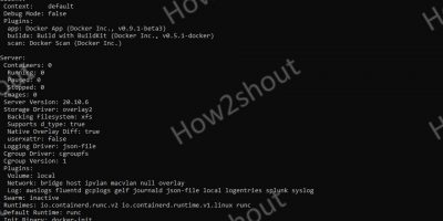 Command to Check Docker info