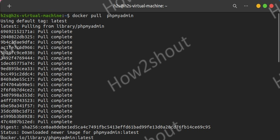 Command to download docker phpmyadmin image