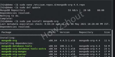 Command to install MongoDB on rocky Linux 8 min