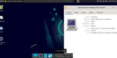 Debian 11 Bullseye VirtualBox installed OS screenshot