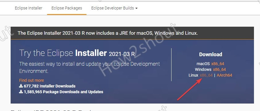 Download Eclipse package for OpenSUSE Linux