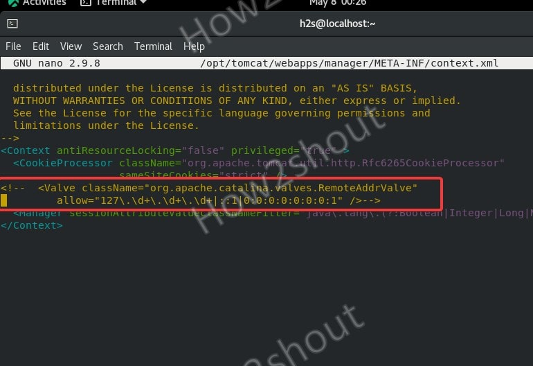 Edit Manager Context file in Tomcat 10