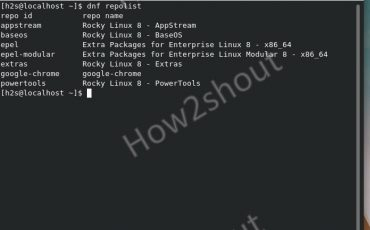 Enable PowerTools repository on Rocky Linux 8