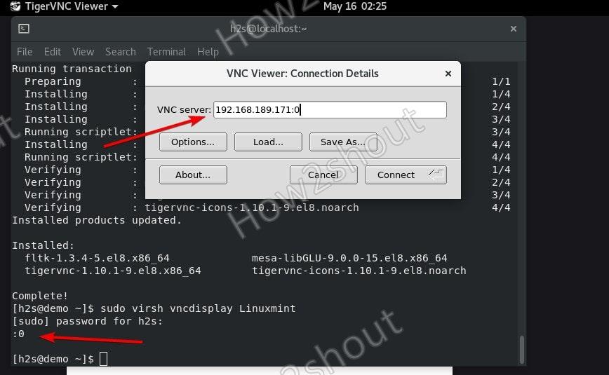 Find Display port for VNC KVM