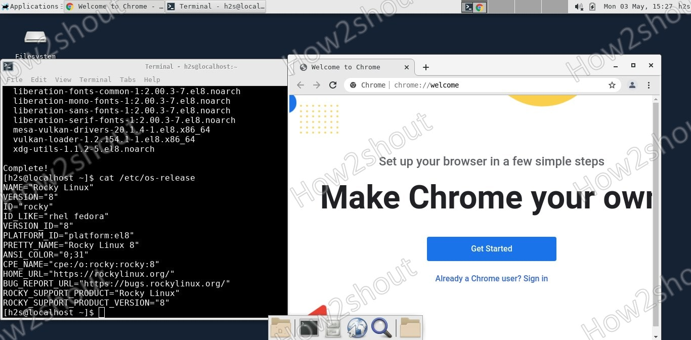 Install Chrome Browser on Rocky Linux 8