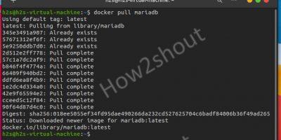 Install MariaDB Docker container