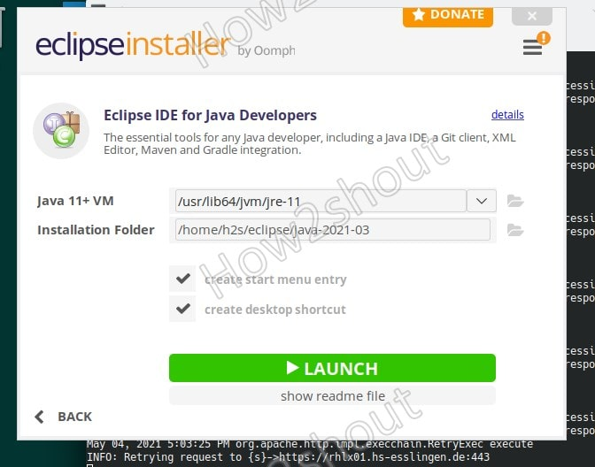 Launch Eclipse on OpenSUSE