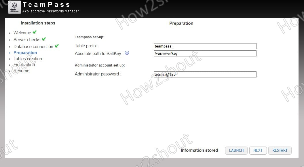 Salt key and password