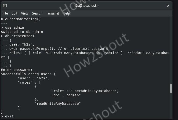 Secure MongoDB user or add admin