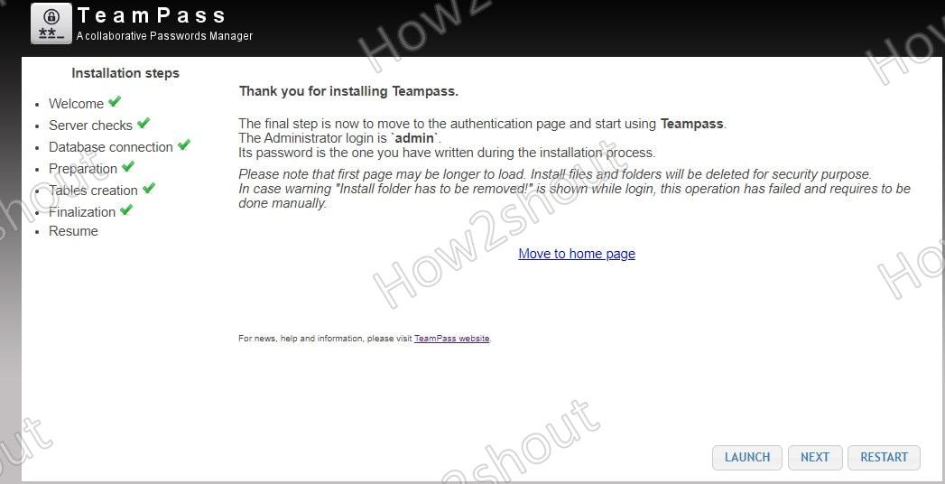 Teampass screenshot