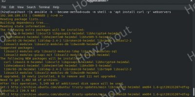 commands to Install Ansible on Rocky Linux Almalinux