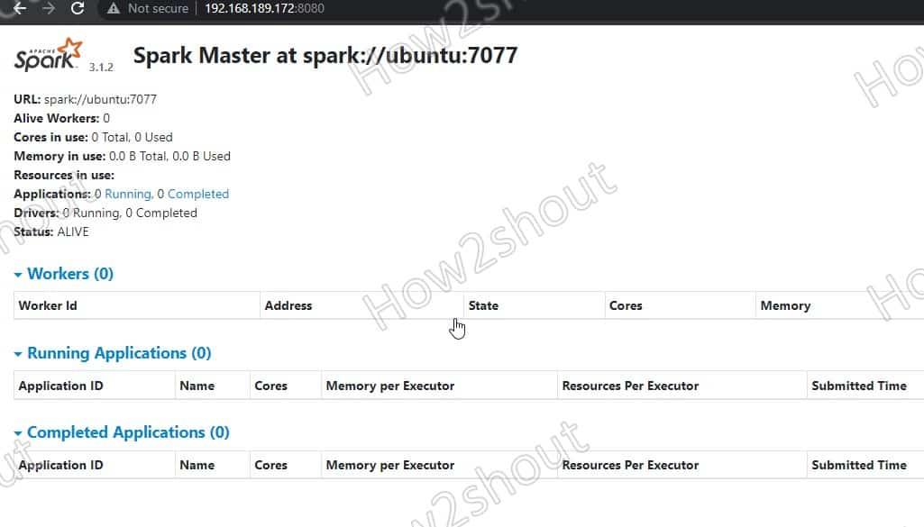 Access Spark Master web interface 1