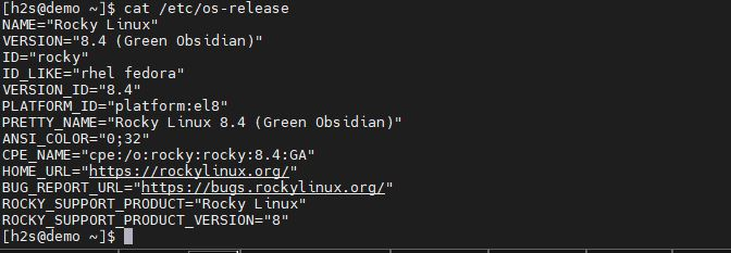 Command to migrate CentOS 8 to Rocky Linux 8 Check os version min