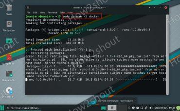 Docker install on Manjaro Linux