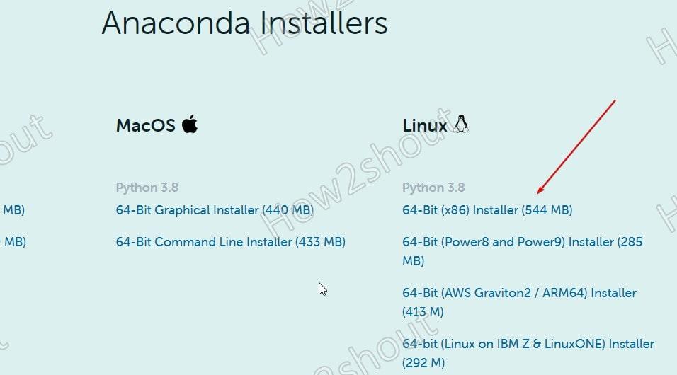 Download Anaconda python for Debian 11