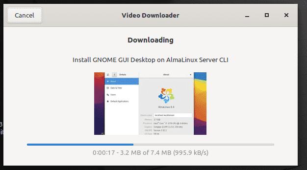 Downloading process