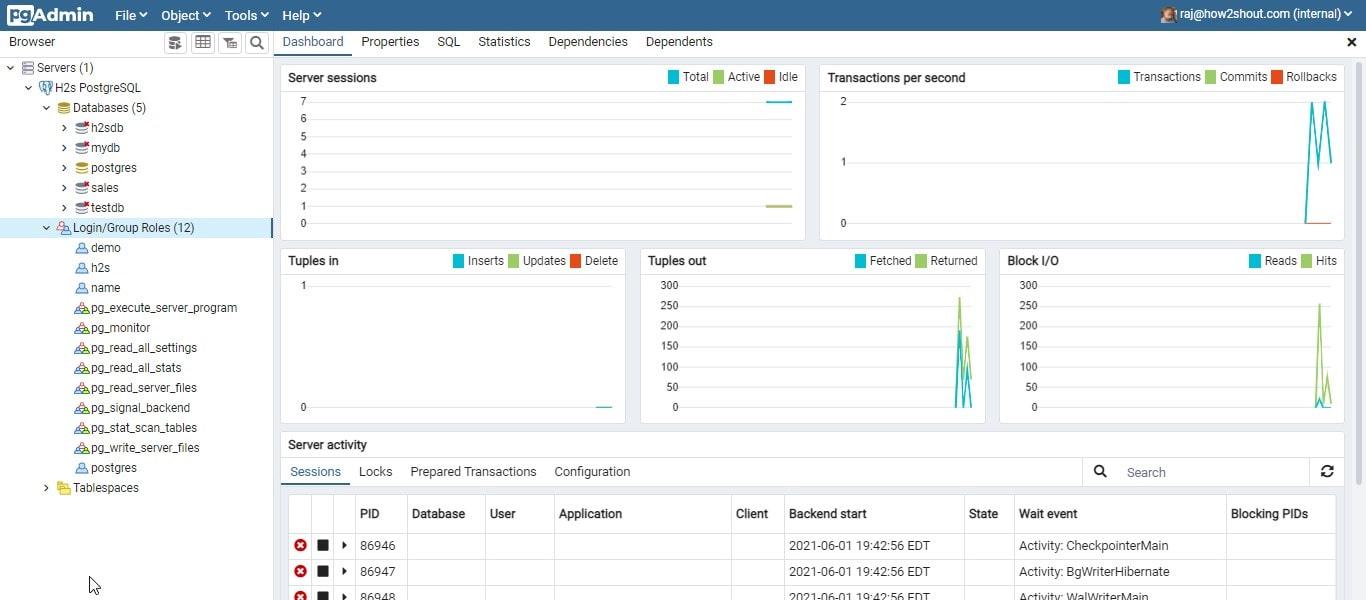 GUI Interface to manage Database