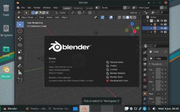 Install Blender 3D 2.93 on Linux
