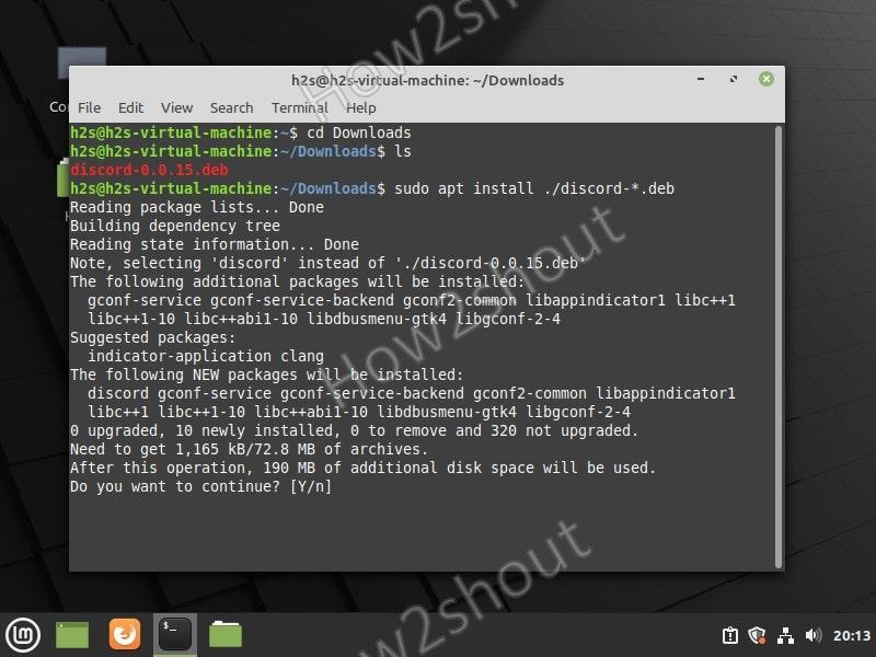 Install Discord Debian package