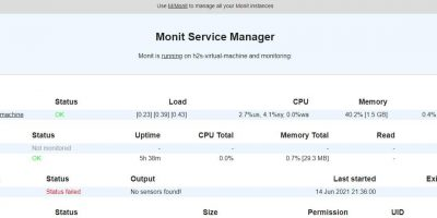 Monti Service Manager montioring system installed on Ubuntu Linux min