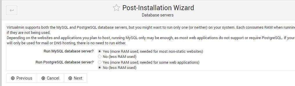 Select Database server min