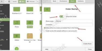 Share folder over SAMBA on Linux Mint