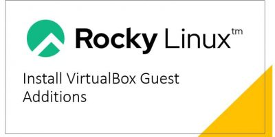 install Virtualbox Guest addtions on Rocky Linux 8