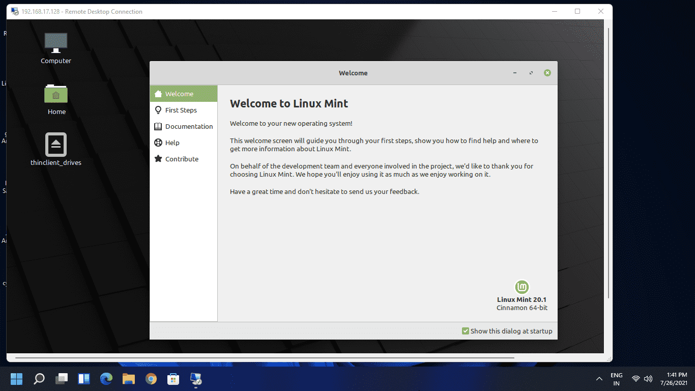 Access Linux Mint from Windows 10 11 using RDP