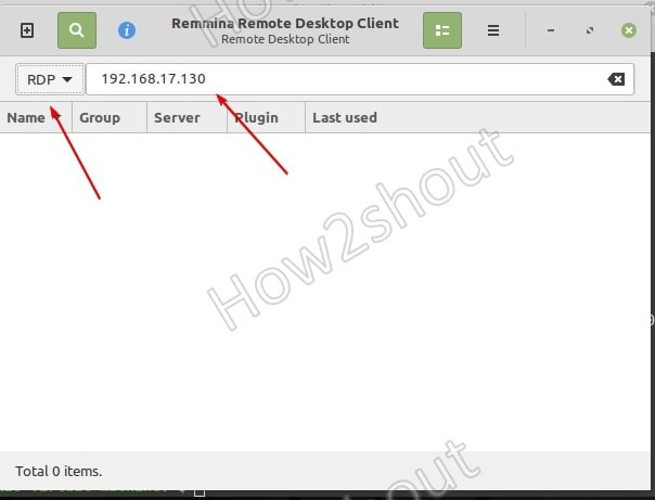 Access Windows using RDP via Linux Mint