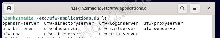 Application filter UFW